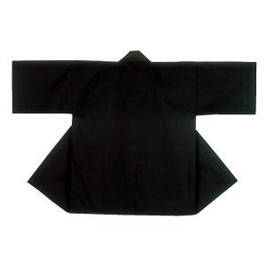 無地半纏 半天 袢天 法被 半被 (黒) =お祭り衣装 大祭 祭禮 神輿 イベント= dento-wako