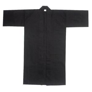 無地長半纏 半天 袢天 法被 半被 (黒) =よさこい お祭り衣装 YOSAKOIソーラン よさこい祭り= dento-wako