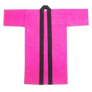 無地長半纏 半天 袢天 法被 半被 (ピンク) =よさこい お祭り衣装 YOSAKOIソーラン よさこい祭り= dento-wako