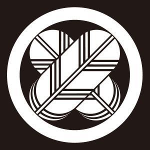 貼り紋 丸に違い鷹羽(シールタイプ6枚1組) =着物 羽織 家紋 紋付=|dento-wako