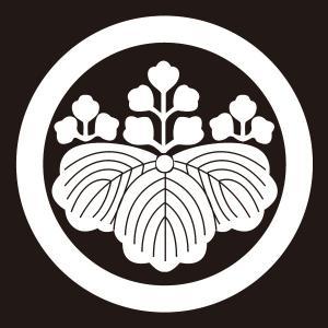 貼り紋 丸に五三の桐(シールタイプ6枚1組) =着物 羽織 家紋 紋付=|dento-wako