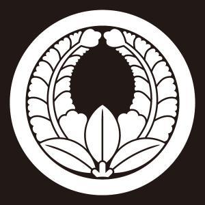 貼り紋 丸に上り藤(シールタイプ6枚1組) =着物 羽織 家紋 紋付=|dento-wako