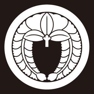 貼り紋 丸に下り藤(シールタイプ6枚1組) =着物 羽織 家紋 紋付=|dento-wako
