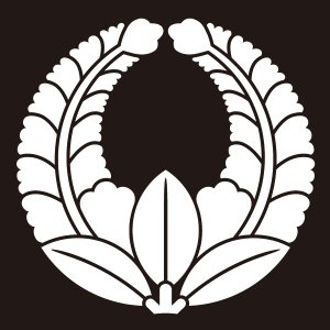 貼り紋 上り藤(シールタイプ6枚1組) =着物 羽織 家紋 紋付=|dento-wako