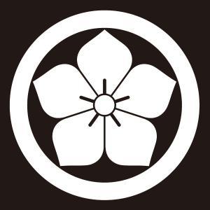 貼り紋 丸に桔梗(シールタイプ6枚1組) =着物 羽織 家紋 紋付=|dento-wako