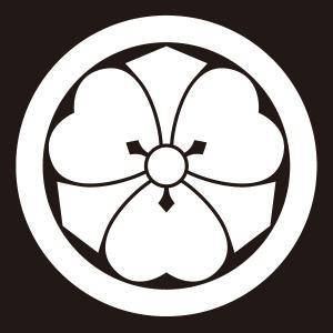 貼り紋 丸に剣片喰(シールタイプ6枚1組) =着物 羽織 家紋 紋付=|dento-wako
