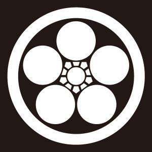 貼り紋 丸に梅鉢(シールタイプ6枚1組) =着物 羽織 家紋 紋付=|dento-wako