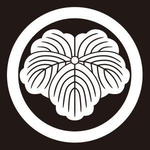 貼り紋 丸に蔦(シールタイプ6枚1組) =着物 羽織 家紋 紋付=|dento-wako