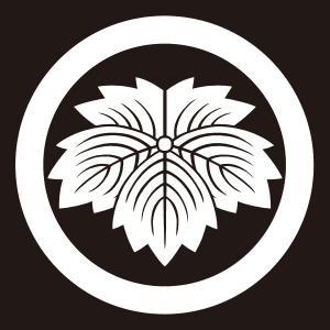 貼り紋 丸に鬼蔦(シールタイプ6枚1組) =着物 羽織 家紋 紋付=|dento-wako