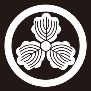 貼り紋 丸に三つ柏(シールタイプ6枚1組) =着物 羽織 家紋 紋付=|dento-wako