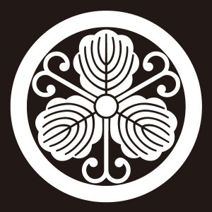 貼り紋 丸につる柏(シールタイプ6枚1組) =着物 羽織 家紋 紋付=|dento-wako