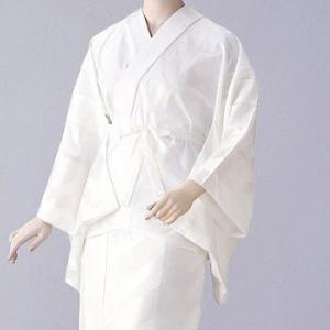 半襦袢 紋綸子ちりめん(白) =和装下着 舞踊 日本舞踊 民踊 新舞踊= dento-wako