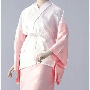半襦袢 紋綸子ちりめん(ピンク) =和装下着 舞踊 日本舞踊 民踊 新舞踊= dento-wako