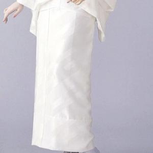 東スカート 紋綸子ちりめん(白) =和装下着 舞踊 日本舞踊 民踊 新舞踊= dento-wako