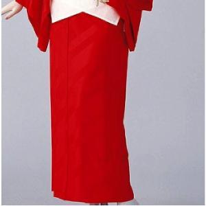 東スカート 紋綸子ちりめん(赤) =和装下着 舞踊 日本舞踊 民踊 新舞踊= dento-wako