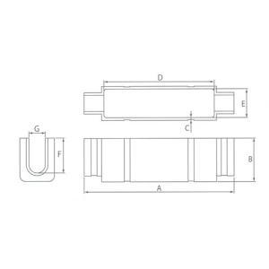 カワグチ ナイスブランチ Bタイプ 裸圧着端子用 中 (3個入)|denzai-39|02