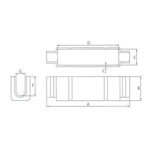 カワグチ ナイスブランチ Tタイプ T形コネクタ用 小 (3個入)|denzai-39|02
