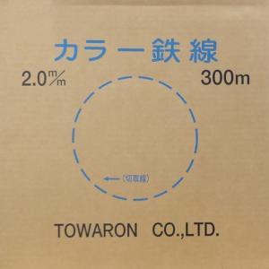 カラー鉄線 青 2.0mm-300m巻 BGV-2.0青|denzai-39
