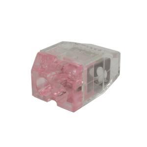 オーム電機 差込みコネクタ OKコン 透明赤 OK-2 (1箱60個入) denzai-39