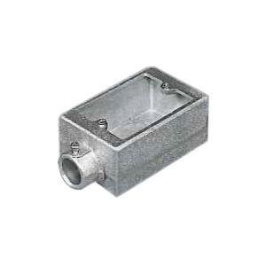 外山電気 ねじなしTC露出スイッチボックス 厚鋼用HDZ/鋳鉄製 TCS11Z22|denzai-39
