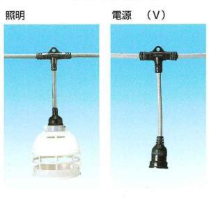 岡澤工業所 分岐ケーブル 電源・照明兼用 3.5×3C 25m ソケット8 引出し電源2 TE-3-8-2(R) denzai-39