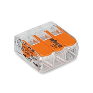 WAGO ワンタッチコネクター 電線数3 WFR-3 (1箱50個入)|denzai-39