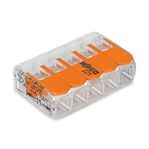 WAGO ワンタッチコネクター 電線数5 WFR-5 (1箱25個入)|denzai-39