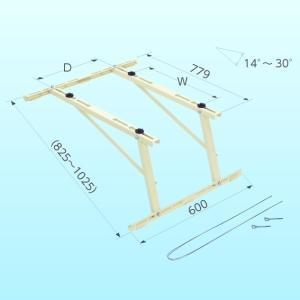 クーラーキャッチャー 日晴金属  ルームエアコン用 屋根直角置用 キャッチャー C-LG
