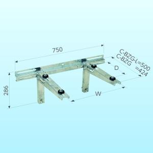 クーラーキャッチャー 溶融亜鉛メッキ仕上げ 壁面用 ブラケットタイプ C-BZG
