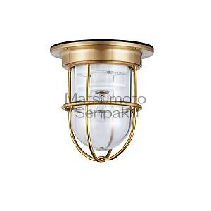 松本船舶 真鍮 マリンランプ ゼロデッキゴールド 白熱ランプ装着モデル ZR-DK-G [ZRDKG]