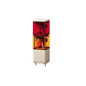パトライト(PATLITE) LED小型積層回転灯 KESB-210赤黄2段 AC100V 82角 防滴 ブザー パトランプ 回転 赤黄 送料無料 denzai-land