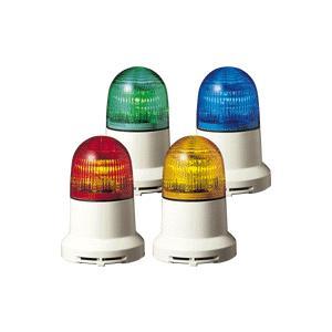 パトライト(PATLITE) 小型LED表示灯 PEW-100AB AC100V Ф82 ブザー(AC200V選択可) パトランプ 点灯、点滅 緑色、青色  送料無料 denzai-land