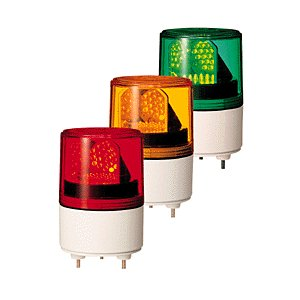 パトライト(PATLITE) LED超小型回転灯 RLE-24 DC24V Ф82 防滴 パトランプ 回転 赤、黄、緑 送料無料|denzai-land