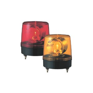 パトライト(PATLITE) 大型回転灯 KG-100 AC100V Ф186 防滴 パトランプ 回転 赤色、黄色 送料無料|denzai-land