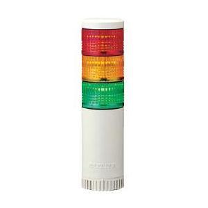 パトライト LED薄型小型積層信号灯 LE-310FBW 3段 点灯/点滅/ブザー AC100V 50Ф 直取付け 赤・黄・緑|denzai-land