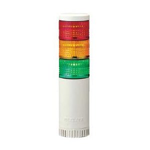 パトライト LED薄型小型積層信号灯 LE-320FBW 3段 点灯/点滅/ブザー AC220V 50Ф 直取付け 赤・黄・緑|denzai-land
