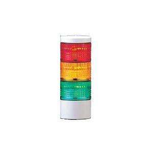 パトライト LED薄型小型積層信号灯 LES-302AW 3段 点灯 AC/DC24V 50Ф 直取付け 赤・黄・緑|denzai-land