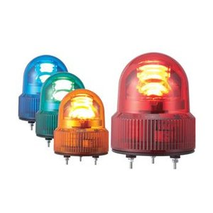 パトライト(PATLITE) LED小型回転灯 SKHEB-12 DC12V Ф118 防滴 ブザー付 パトランプ 回転 赤色、黄色 送料無料|denzai-land
