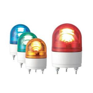 パトライト(PATLITE) LED小型回転灯 RHE-12 DC12V Ф100 防滴 パトランプ 回転 赤色、黄色 denzai-land