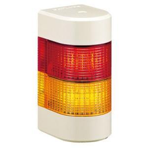 パトライト LED壁面取付け積層信号灯 WME-202AFB 2段 点灯・点滅・ブザー AC/DC24V(赤黄or赤緑)|denzai-land