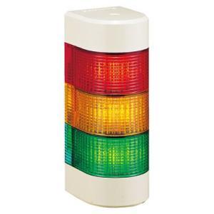 パトライト LED壁面取付け積層信号灯 WME-302AFB 3段 点灯・点滅・ブザー AC/DC24V 赤・黄・緑|denzai-land