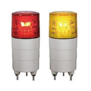 日恵製作所 LED超小型回転灯  ニコミニ VL04M-D12N DC12V Ф45 制御入力無し(赤or黄)|denzai-land