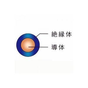 ☆新品☆600V ビニル絶縁電線 IV 2.0Φ 青 単線 300m巻 ☆領収書可能|denzai110ban