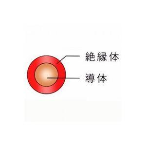 1mより切断OK ☆新品☆600V ビニル絶縁電線 IV 22SQ 赤 ☆領収書可能