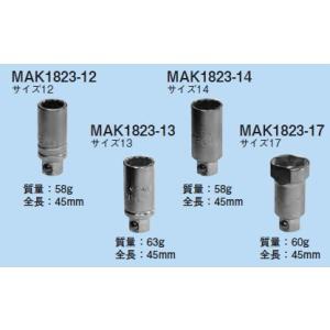 ☆新品☆ ネグロス ラチェットメガネレンチ用替ソケット MAK1823−13 denzai110ban