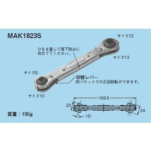 ☆新品☆ ネグロス 首振りラチェットメガネレンチ MAK1823S denzai110ban