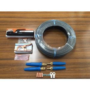 ☆新品☆溶接用キャブタイヤケーブル WCT22SQ 10m 付属品付(ホルダー+アースクリップ+ケーブルジョイント2組+端子2個) denzai110ban