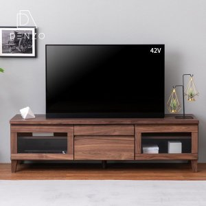 本日最終日!ポイント最大31倍!テレビ台 AVラック 収納家具 フロック 150 テレビボード ウォルナット (IS)|denzo