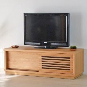 高額クーポンも!アルダー 無垢 ルーバー ナチュラル ロージー 120 テレビボード (IS) denzo