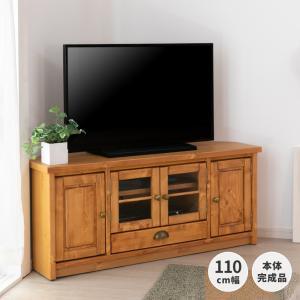 テレビ台 コーナー 110 おしゃれ 収納 カントリー 無垢 パイン ルクレ ISSEIKI|denzo
